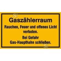 Hinweisschild zur Betriebskennzeichnung Gaszählerraum ...