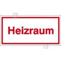 Hinweisschild zur Betriebskennzeichnung Heizraum