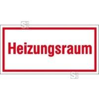 Hinweisschild zur Betriebskennzeichnung -Heizungsraum-
