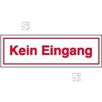 Hinweisschild zur Betriebskennzeichnung, Kein Eingang