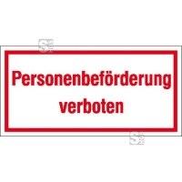 Hinweisschild zur Betriebskennzeichnung Personenbeförderung verboten