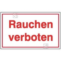 Hinweisschild zur Betriebskennzeichnung Rauchen verboten