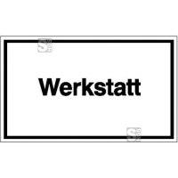 Hinweisschild zur Betriebskennzeichnung, Werkstatt