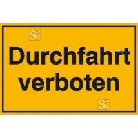 Hinweisschild zur Grundbesitzkennzeichnung, Durchfahrt verboten