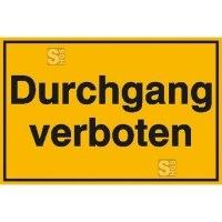 Hinweisschild zur Grundbesitzkennzeichnung, Durchgang verboten