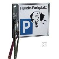 Hundeparkplatz / Hundehalter -Clim-, Stahl, wahlweise zum Einbetonieren, Aufdübeln oder Wandmontage