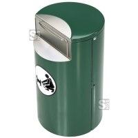 Hundetoilette -Eclipse 300-, 62 Liter, aus Stahlblech, wahlweise mit Sockel oder Rundbügel