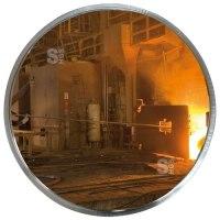 Industriespiegel Vialux® für spezielle Umgebungen, Edelstahl, gem. CE-Vorschrift, rund