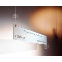 Infoleiste -Cristallo- für Deckenbefestigung