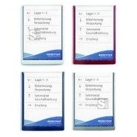 Infotafel -Clicksign- DIN A4, aus ABS-Kunststoff, verschiedene Farben
