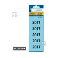 Jahreszahl-Etiketten, VE 100 Stück, selbstklebend, wahlweise Jahr 2015 oder 2016