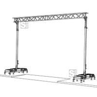 Kabelüberführung 7,50 x 5,10 m, Nutzlast 20kg / lfm, max. Durchfahrtsbreite 7,5 m