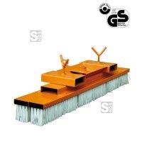 Kehrbesen -K2077- für Gabelstapler, mit Einfahrtaschen, Besenbreite 1000-2000 mm