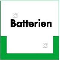 Kennzeichnungsschild Batterien