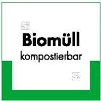 Kennzeichnungsschild Biomüll kompostierbar
