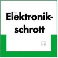 Kennzeichnungsschild Elektronikschrott