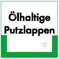 Kennzeichnungsschild Ölhaltige Putzlappen