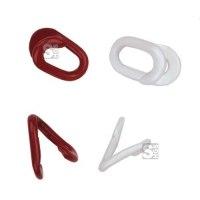 Ketten Notglieder aus Stahl, Gliederstärke 5 mm, kunststoffbeschichtet, rot oder weiß