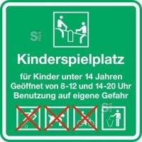 Kinder- und Spielplatzschild -Kinderspielplatz-, 600 x 600 mm