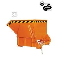 Kippbehälter -K2011- mit Abrollautomatik u. automatischer Entriegelung, 300-3000 Liter, lackiert oder verzinkt