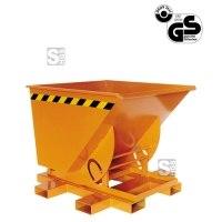 Kippbehälter -K2013- mit Dreh- / Kippmechanismus, hohe Bauweise, 300-1500 Liter, lackiert oder verzinkt