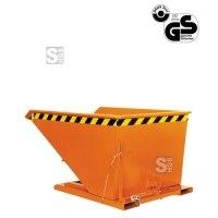 Kippbehälter -K2014- mit flachem Kippwinkel, niedrige Bauhöhe, 300-1000 Liter, lackiert oder verzinkt