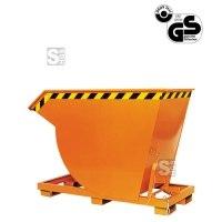 Kippbehälter -K2015- mit steilem Kippwinkel, hohe Bauweise, 300-2500 Liter, lackiert oder verzinkt