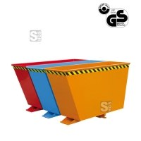 Kippbehälter -K2025- Sortiersystem -Duo- oder -Trio-, einzeln kippbar, 2x 90 oder 3x 60 Liter, lackiert oder verzinkt