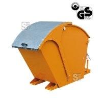 Kippbehälter -K2026- mit verzinktem Runddeckel, 750-1000 Liter, lackiert oder verzinkt