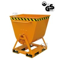Kippmulde -K2067- 2-seitig kippbar, 4-seitig anfahrbar, Tragkraft 500 kg, 300 - 600 Liter
