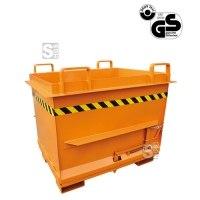 Klappbodenbehälter -K2033- mit automatischer Entriegelung, leicht konisch, 500-1000 Liter, lackiert oder verzinkt