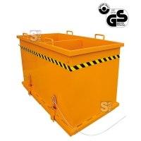 Klappbodenbehälter -K2036- mit Zwischenwänden, 2x 90 oder 3x 60 Liter, lackiert oder verzinkt