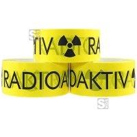 Klebeband -Radioaktiv-, Breite 50 mm, Länge 66 m