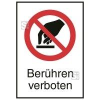Kombischild, Berühren verboten