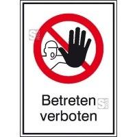 Kombischild, Betreten verboten