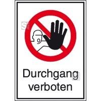 Kombischild, Durchgang verboten