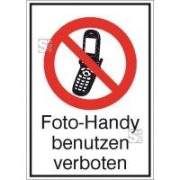 Kombischild, Foto-Handy benutzen verboten