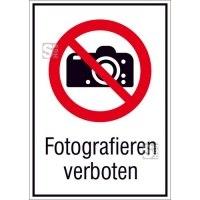 Kombischild, Fotografieren verboten
