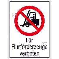 Kombischild, Für Flurförderzeuge verboten