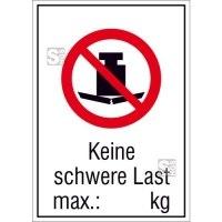 Kombischild, Keine schwere Last max. ... kg, zur Selbstbeschriftung
