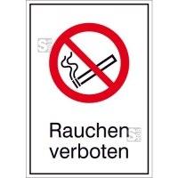 Kombischild, Rauchen verboten
