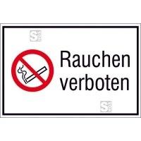 Kombischild, Rauchen verboten, Querformat