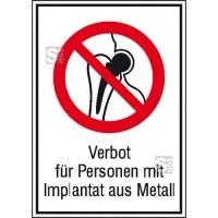 Kombischild, Verbot für Personen mit Implantat aus Metall