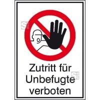 Kombischild, Zutritt für Unbefugte verboten