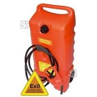 Kraftstofftrolley -CEMO Ex0- 53 Liter aus HDPE, mit Zapfpistolenpumpe