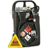 Kraftstofftrolley -CEMO Ex0- 60 L aus Polyethylen, nach ADR 1.1.3.1c, mit Hand- oder Elektropumpe