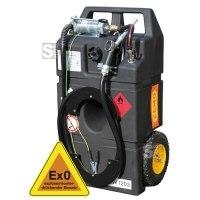 Kraftstofftrolley -CEMO Ex0- 95 Liter, aus Polyethylen, nach ADR 1.1.3.1 c, mit Hand- oder Elektropumpe
