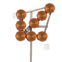LED-Leuchtpfeil HLP 8 (Blinkpfeil) 12 / 24V, 8-LED-Richtstrahler RS 2000, BASt-geprüft
