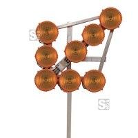 LED-Leuchtpfeil HLP 8 (Blinkpfeil) 12 / 24V, 8-LED-Richtstrahler RS 2000, BASt-geprüft nach TL-Warnleuchten