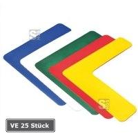 Lagerplatzkennzeichnung -L-Stücke-, VE 25 Stück, für Innenbereich, Breite 50, 75 und 100 mm